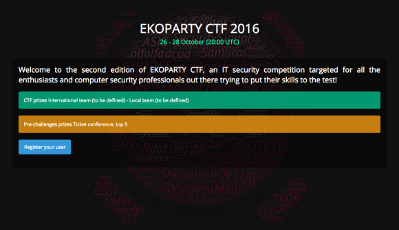 EKOPARTY CTF 2016