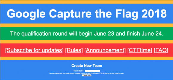 Google Capture the Flag 2018